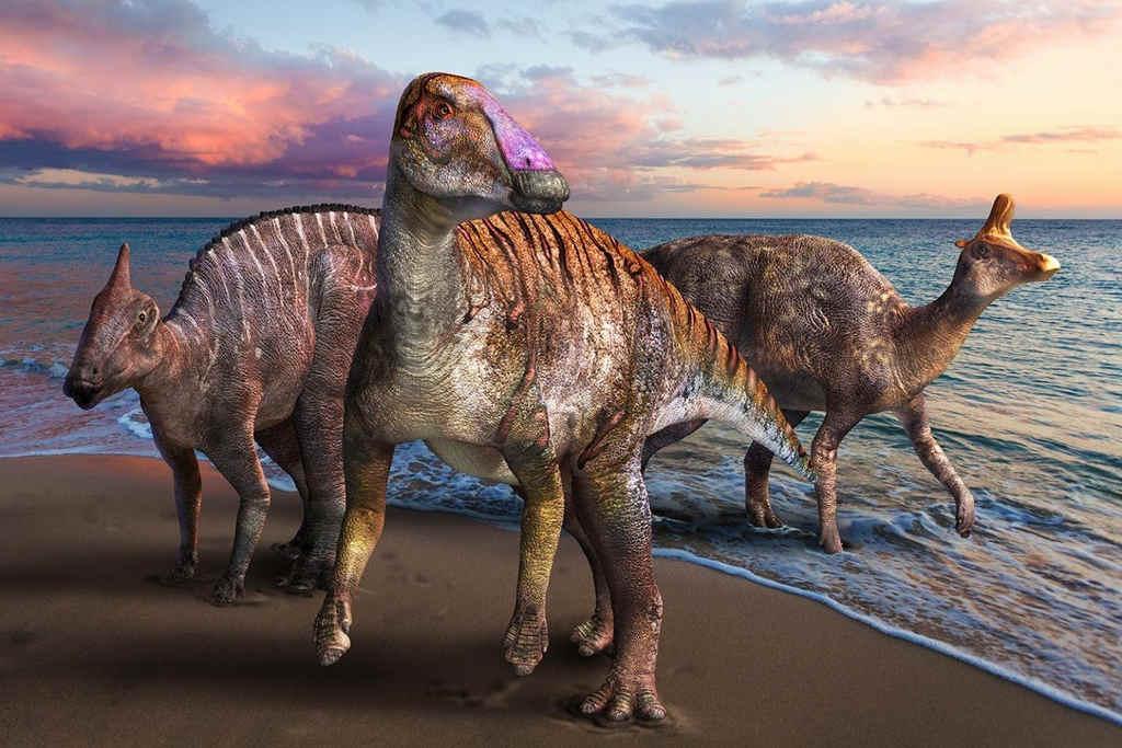 dinosaurio pico de pato